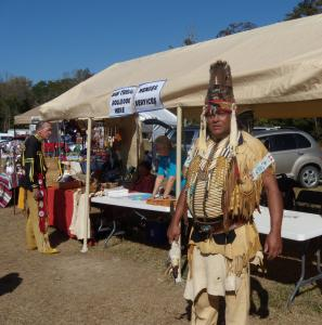"Harold ""Buster"" Hatcher, Chief of the Waccamaw Indian People, poses for a picture during the group's annual Pauwau held on its tribal grounds in Aynor, S.C. Photograph courtesy of www.americantowns.com. Accessed November 10, 2014."