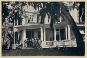 """The Donaldson home before it burned in 1929. Endearingly referred to as the """"Old Relic"""" by the Baruchs."""