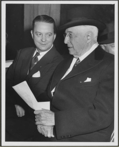 Baruch and Dr. Howard Rusk at dedication c. 1950